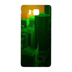 Green Building City Night Samsung Galaxy Alpha Hardshell Back Case