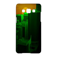 Green Building City Night Samsung Galaxy A5 Hardshell Case