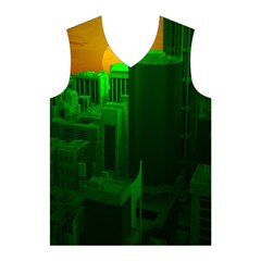 Green Building City Night Men s Basketball Tank Top