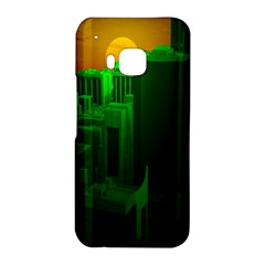 Green Building City Night HTC One M9 Hardshell Case