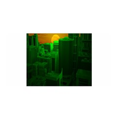 Green Building City Night Satin Wrap