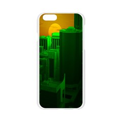Green Building City Night Apple Seamless iPhone 6/6S Case (Transparent)