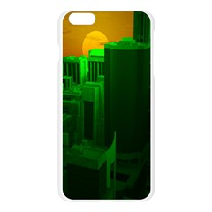 Green Building City Night Apple Seamless iPhone 6 Plus/6S Plus Case (Transparent)