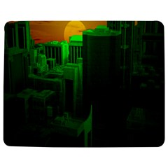 Green Building City Night Jigsaw Puzzle Photo Stand (Rectangular)