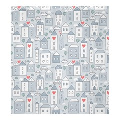 Houses Pattern Shower Curtain 66  x 72  (Large)