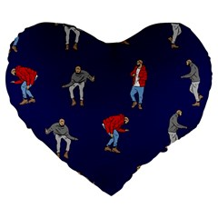 Drake Ugly Holiday Christmas Large 19  Premium Heart Shape Cushions