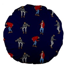 Drake Ugly Holiday Christmas Large 18  Premium Flano Round Cushions