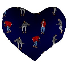 Drake Ugly Holiday Christmas Large 19  Premium Flano Heart Shape Cushions
