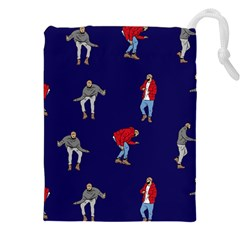Drake Ugly Holiday Christmas Drawstring Pouches (XXL)