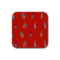 Drake Ugly Holiday Christmas   Rubber Square Coaster (4 Pack)
