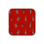 Drake Ugly Holiday Christmas   Rubber Square Coaster (4 pack)  Front
