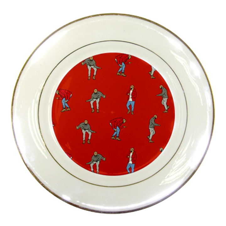 Drake Ugly Holiday Christmas   Porcelain Plates