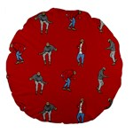 Drake Ugly Holiday Christmas   Large 18  Premium Flano Round Cushions Back