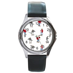 Drake Ugly Holiday Christmas Round Metal Watch