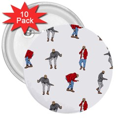 Drake Ugly Holiday Christmas 3  Buttons (10 pack)