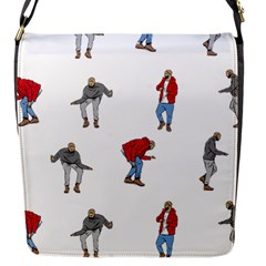 Drake Ugly Holiday Christmas Flap Messenger Bag (S)