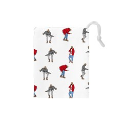 Drake Ugly Holiday Christmas Drawstring Pouches (Small)