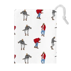 Drake Ugly Holiday Christmas Drawstring Pouches (Extra Large)