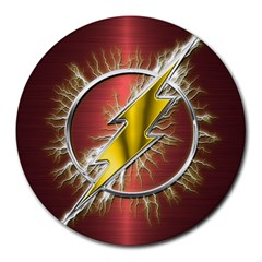 Flash Flashy Logo Round Mousepads