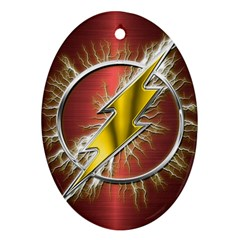 Flash Flashy Logo Ornament (Oval)