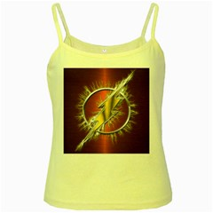 Flash Flashy Logo Yellow Spaghetti Tank