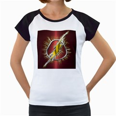 Flash Flashy Logo Women s Cap Sleeve T