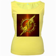 Flash Flashy Logo Women s Yellow Tank Top