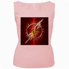 Flash Flashy Logo Women s Pink Tank Top