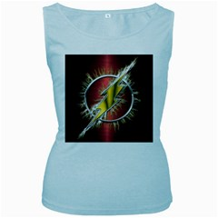 Flash Flashy Logo Women s Baby Blue Tank Top