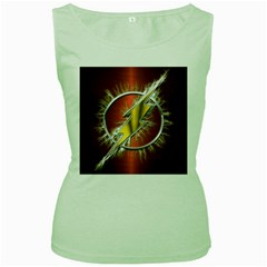 Flash Flashy Logo Women s Green Tank Top