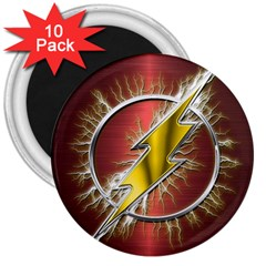 Flash Flashy Logo 3  Magnets (10 Pack)