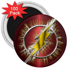 Flash Flashy Logo 3  Magnets (100 Pack)