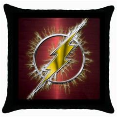Flash Flashy Logo Throw Pillow Case (black)