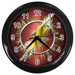 Flash Flashy Logo Wall Clocks (Black)