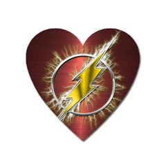 Flash Flashy Logo Heart Magnet