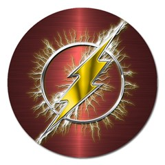 Flash Flashy Logo Magnet 5  (Round)