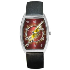 Flash Flashy Logo Barrel Style Metal Watch