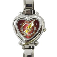 Flash Flashy Logo Heart Italian Charm Watch