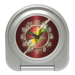 Flash Flashy Logo Travel Alarm Clocks