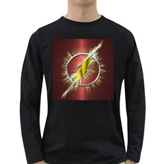 Flash Flashy Logo Long Sleeve Dark T Shirts