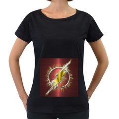 Flash Flashy Logo Women s Loose-Fit T-Shirt (Black)