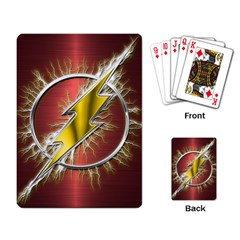 Flash Flashy Logo Playing Card