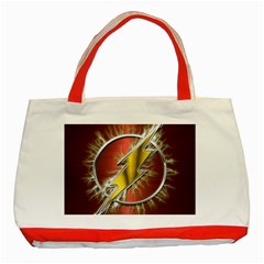 Flash Flashy Logo Classic Tote Bag (red)