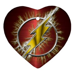 Flash Flashy Logo Heart Ornament (2 Sides)