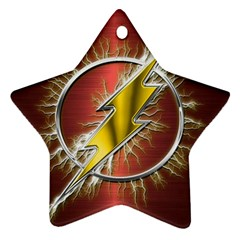 Flash Flashy Logo Star Ornament (Two Sides)