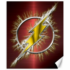 Flash Flashy Logo Canvas 8  X 10