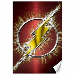Flash Flashy Logo Canvas 12  x 18