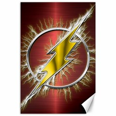Flash Flashy Logo Canvas 24  x 36