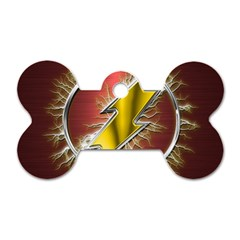 Flash Flashy Logo Dog Tag Bone (One Side)