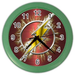 Flash Flashy Logo Color Wall Clocks